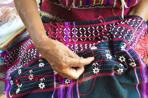 Caramelle - tissage - tissu motif ethnique
