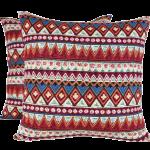 box décoration housse de coussin motif ethnique caramelle